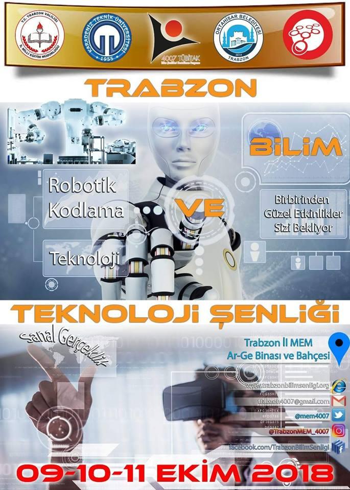 Photo of Trabzon Bilim ve Teknoloji Şenliği 9-10-11 Ekim 2018
