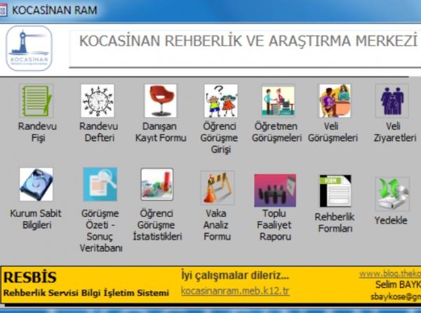 Photo of Rehberlik Servisi Bilgi İşletim Sistemi (RESBİS) V.2