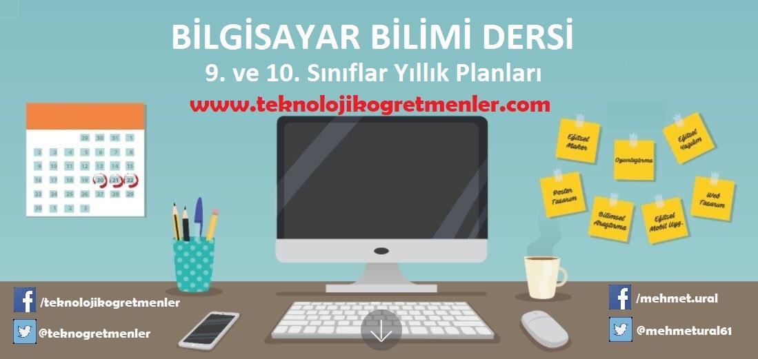 Photo of Bilgisayar Bilimi Dersi 9. ve 10. Sınıflar 2018-2019 Yıllık Planları