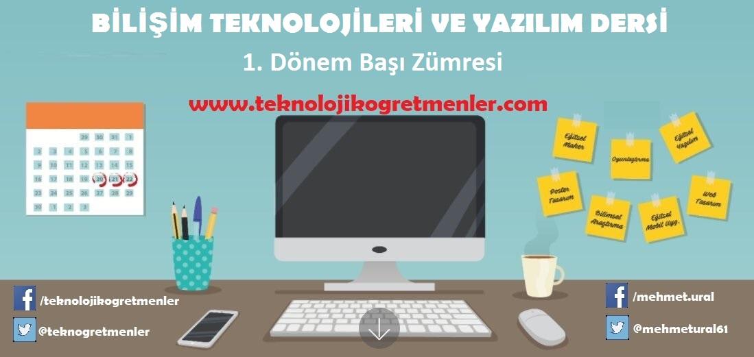 Photo of Bilişim Teknolojileri ve Yazılım Dersi Eğitim Öğretim Yılı Başı Zümresi (2 Adet)