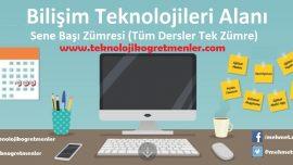 2018-2019 Eğitim Öğretim Yılı Bilişim Teknolojileri Alanı Sene Başı Zümresi (Tüm Dersler Tek Zümre)