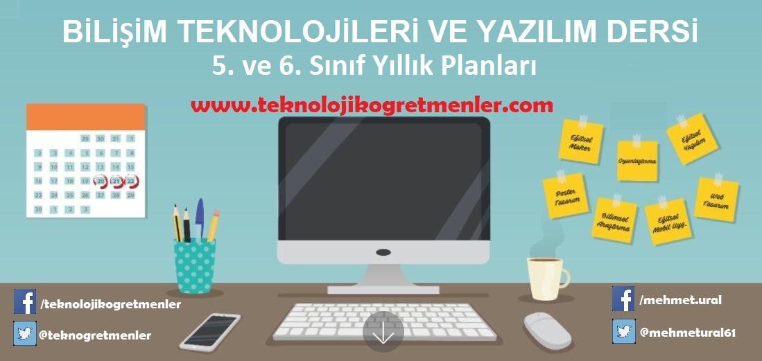 Photo of Bilişim Teknolojileri ve Yazılım Dersi 5. ve 6. Sınıflar 2018-2019 Yıllık Plan