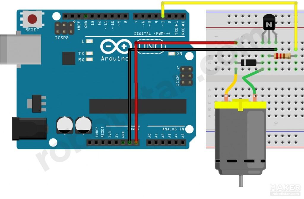 Photo of Arduino ile DC Motor Hız Kontrolü