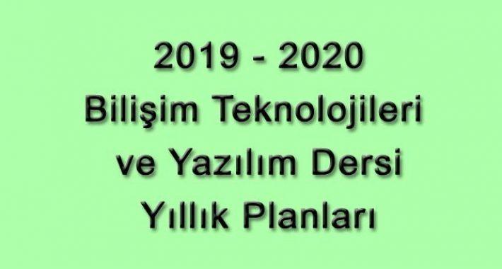 2019-2020 Eğitim Öğretim Yılı Bilişim Teknolojileri ve Yazılım Dersi 5. ve 6. Sınıf Yıllık Planları