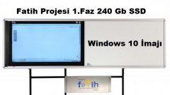 Fatih Projesi 1. Faz 240 Gb SSD için Windows 10 İmajı – Yeni SSD Harddiskler İçin…