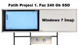 Fatih Projesi 1. Faz 240 Gb SSD için Windows 7 İmajı – Yeni SSD Harddiskler İçin…