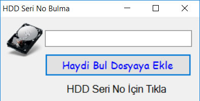 Photo of SSD Seri No Alma Programı…
