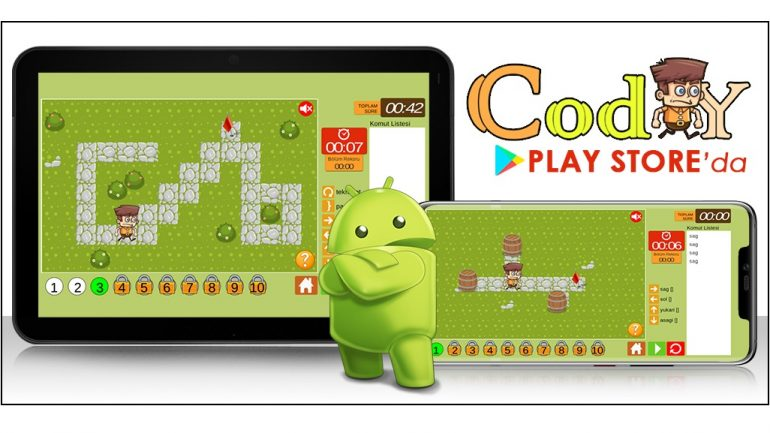 CodY – Kodlama Oyunu şimdi PlayStore'da
