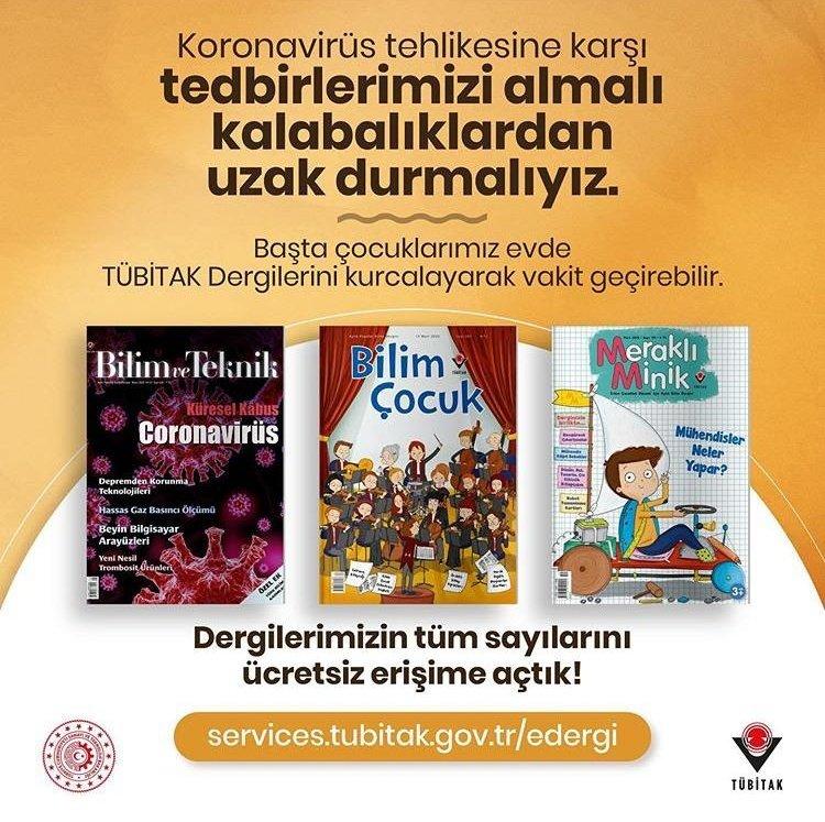 Photo of TÜBİTAK Bilim Teknik, Bilim Çocuk ve Meraklı Minik Dergilerini Ücretsiz Erişime Açtı…