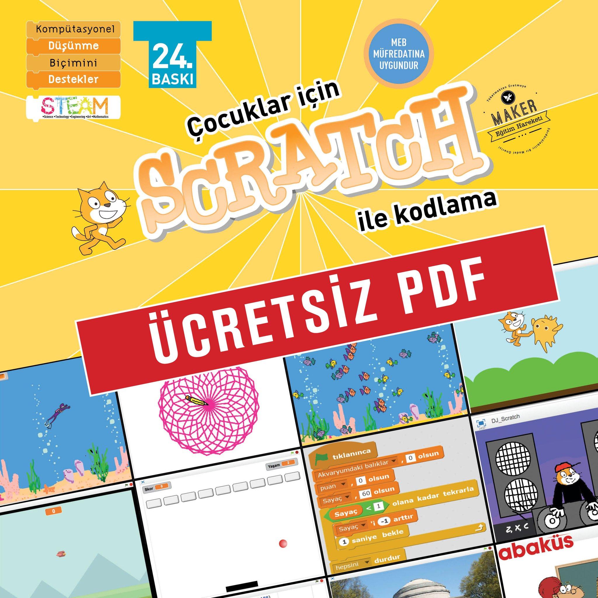 Photo of Çocuklar için Scratch ile Kodlama 9+ Yaş Ücretsiz Pdf