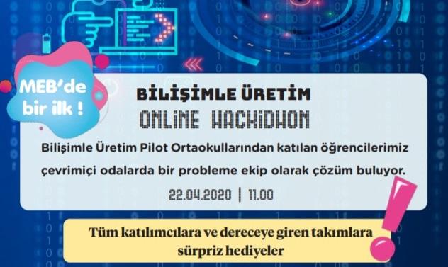 Photo of MEB Bilişimle Üretim Pilot Ortaokulları Arası Online İnovasyon Yarışması (Online Hackidhon) Düzenliyor.