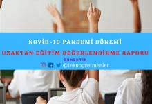 Photo of Kovid-19 Pandemi Dönemi Uzaktan Eğitim Değerlendirme Raporu
