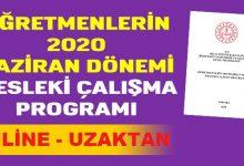 Photo of Öğretmenlerin 2020 Yılı ONLİNE Mesleki Çalışma Programı Yayınlandı.