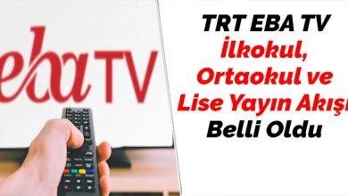 Photo of Telafi Eğitimi Dönemi TRT EBA TV Yayın Akışı Belli Oldu