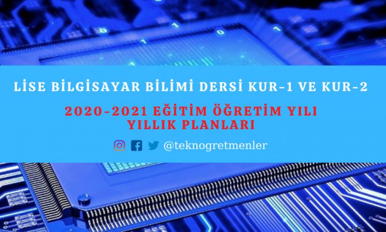 Photo of 2020-2021 Eğitim Öğretim Yılı Bilgisayar Bilimi Dersi Kur-1 ve Kur-2 Yıllık Planları