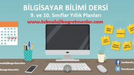 Bilgisayar Bilimi Dersi 9. ve 10. Sınıflar 2018-2019 Yıllık Planları