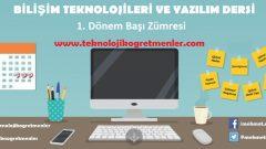 Bilişim Teknolojileri ve Yazılım Dersi Eğitim Öğretim Yılı Başı Zümresi (2 Adet)