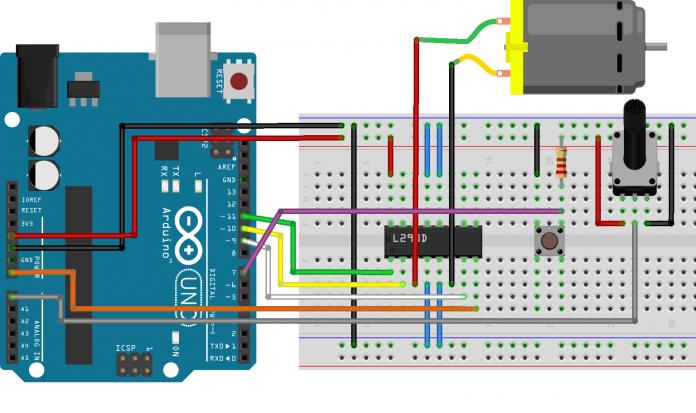 Photo of Arduino ile DC Motor Hız ve Yön Kontrolü
