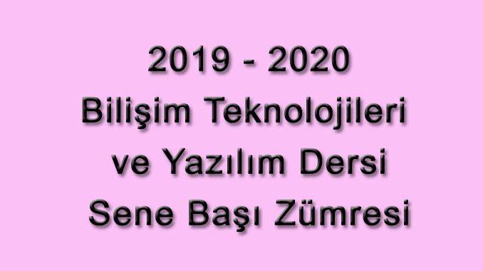 Photo of 2019-2020 Eğitim Öğretim Yılı Bilişim Teknolojileri ve Yazılım Dersi Sene Başı Okul Zümresi