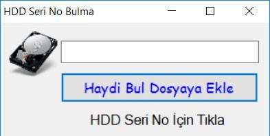 Photo of SSD Seri No Alma Programı…
