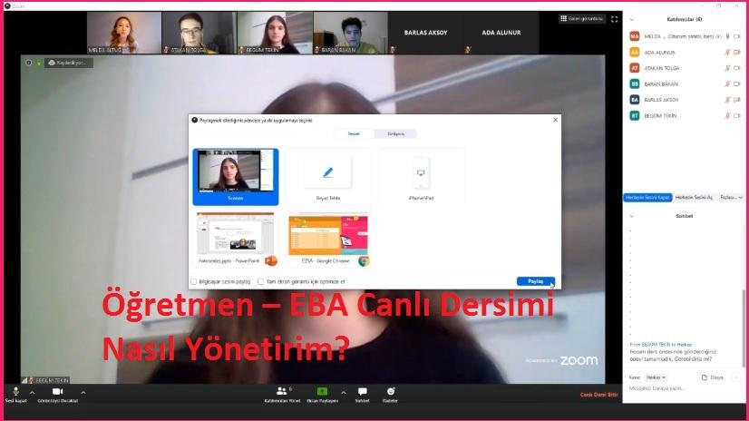 Photo of Öğretmen – EBA Canlı Dersimi Nasıl Yönetirim?