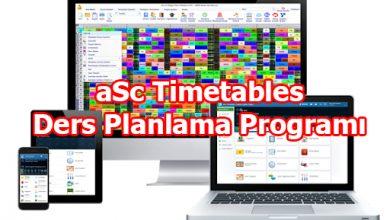 Photo of aSc Timetables Ders Planlama Programı
