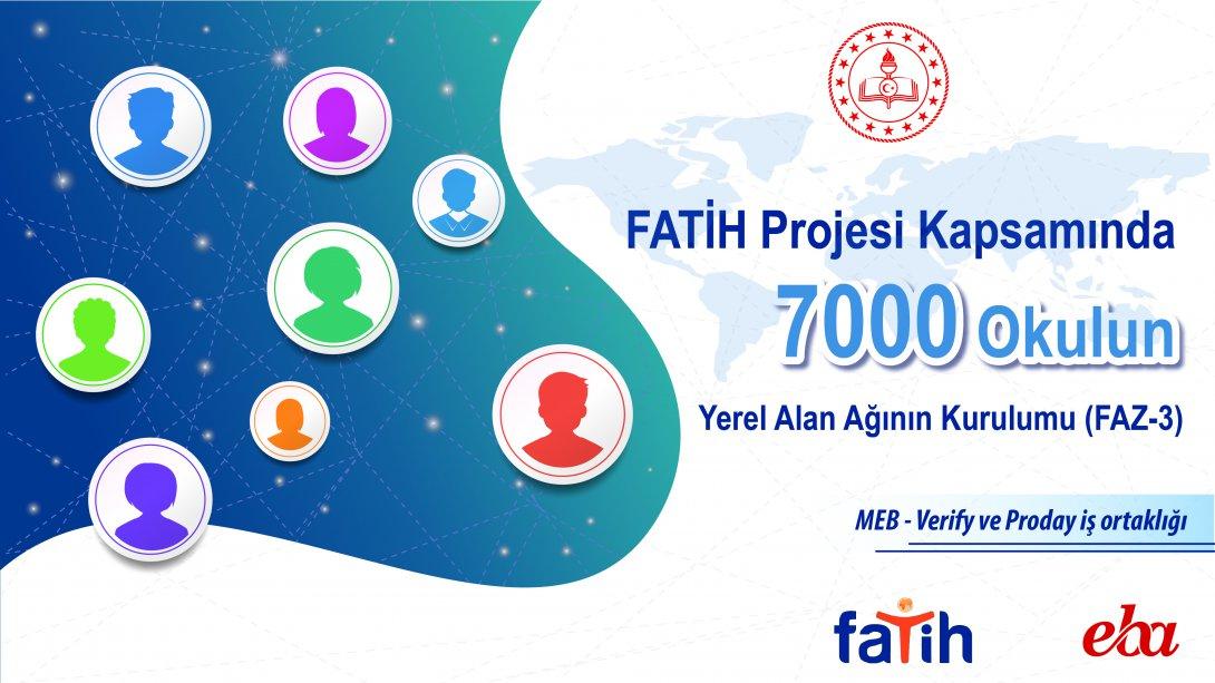 FATİH Projesi Kapsamında 7.000 Okula Daha Yerel Ağ Altyapısı Kuruluyor
