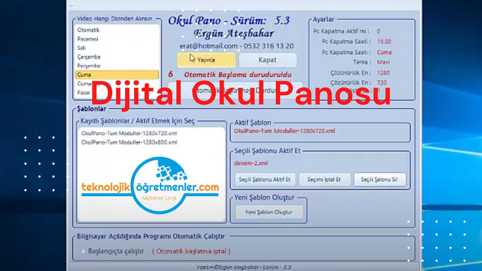 Dijital Okul Panosu